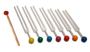 7 Chakra Tuning Fork Set with color balls